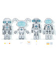 futuristic android robot characters artificial vector image vector image