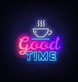 good time neon text good times neon sign vector image