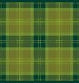 green tartan plaid seamless pattern vector image vector image