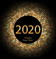 happy new year 2020 dot background calendar vector image vector image