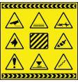 hazards vector image vector image