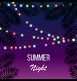hot summer night party invitation flyer template vector image