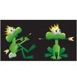 king frog cartoon vector image vector image
