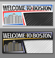 layouts for boston vector image vector image
