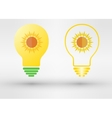 Light bulb with sun vector image vector image