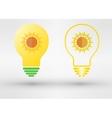 Light bulb with sun vector image