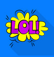 lol icon pop art style vector image vector image