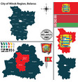 map minsk region belarus vector image