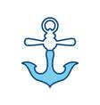 marine anchor symbol vector image