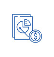market share line icon concept market share flat vector image vector image