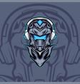 mecha player vector image vector image