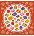 Merry Christmas decorating design vector image vector image