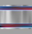 metal empty plate textured steel background vector image vector image