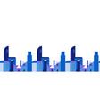 modern flat city seamless pattern background vector image