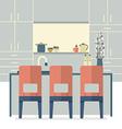 Modern Flat Design Kitchen Interior vector image vector image