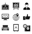 money protection icons set simple style vector image vector image