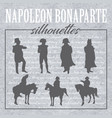 napoleon forms and silhouettes vector image
