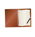notebook with pencil part two vector image vector image