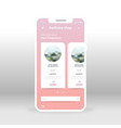 online parfume shopping ui ux gui screen for vector image vector image