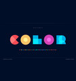 overlay colorful alphabet color overlap vector image