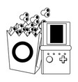 pop corn and videogame design vector image vector image