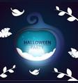 pumpkin paper halloween landscape vector image vector image