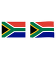 republic south africa rsa flag simple and vector image