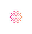 Round abstract logo from circles small and