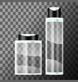 set cosmetic bottle vector image vector image