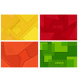 Set four backgrounds with geometric pattern