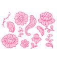 set lace flowers vintage textile vector image vector image