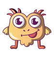 small monster icon cartoon style vector image vector image