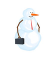 snowman businessman winter boss snow manager vector image vector image