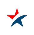 star patriotic logo template vector image