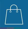 thin line shopping bag icon design vector image vector image