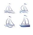 travel by sea or ocean a set of icons vector image vector image