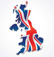united kingdom great britain map with flag vector image vector image