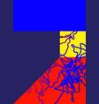 universal trend gradient geometric poster vector image vector image