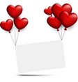 valentine s paper background with hearts vector image vector image
