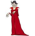 vampire halloween character cartoon vector image vector image