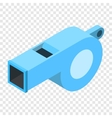 Whistle isometric 3d icon vector image vector image