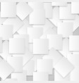 white squares on gray background vector image vector image