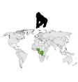 World Gorilla range vector image vector image