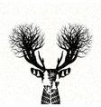 christmas concept design of reindeer vector image