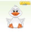 Cute Cartoon Duck vector image