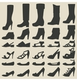 women shoes set vector image