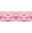 Abstract damask flowers horizontal seamless vector image vector image