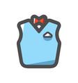 bartender suit solid icon cartoon vector image