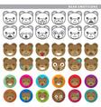bear emoticons vector image