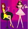 Beautiful disco girls vector image vector image